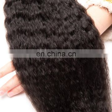2017 hot sale kinky straight 10a grade brazilian hair double drawn