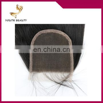 Youth Beauty Hair 2017 Cheap Human Hair Lace Closure 4*4 Malaysian Swiss Lace Closure in silky straight 100%human hair