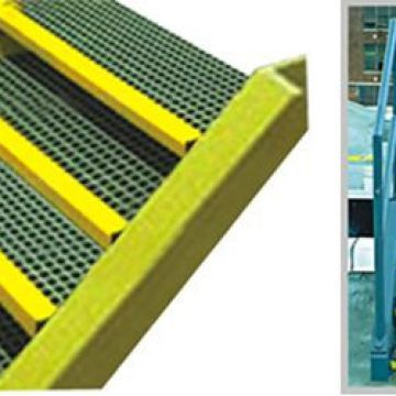 Fiberglass Grating Systems Gray / Green Strongwell Grating
