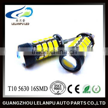 Hot Sale Auto LED Light Bulb T10 5630 16SMD Canbus W5W 12V Led Car Light Led Decoration Light car led light