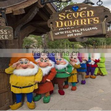 HI CE wholesale high quality used adult Seven Dwarfs mascot costumes mascot costume for sale