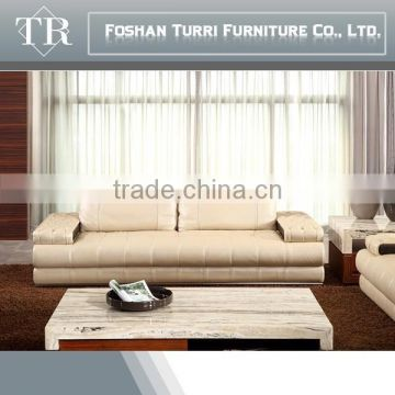 luxury home furniture brighted colored italian leather sofa set
