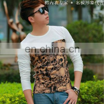 Peijiaxin Casual Style Seamed Collar Tshirt Design with Skeleton Pattern