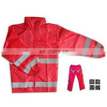 Hi vis EN471 safety raincoat