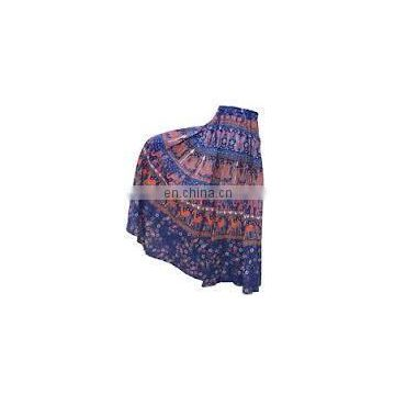 GYPSY Fashion ETHNIC INDIAN COTTON animals PRINT WRAP AROUND SARONG SKIRT Tribal Batik Wrap Around wrap Skirt Dress wholesale