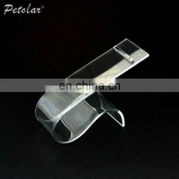 plate clear acrylic shoe display stand plastic shoe display stand