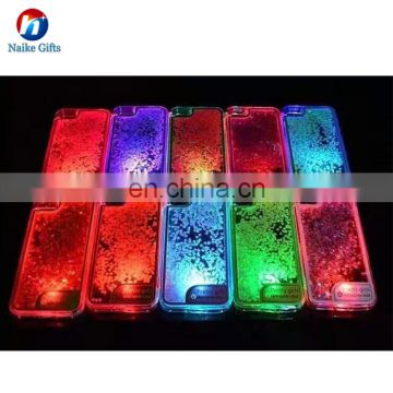 New Design LED Glitter Liquid Quick Sand Cell Phone Case Bling Quick Sand TPU Phone Case