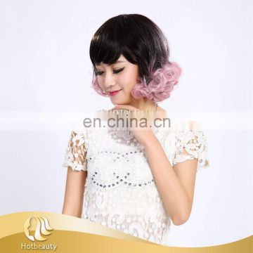 cheap colorable 125g low temperature synthetic wig for ladies