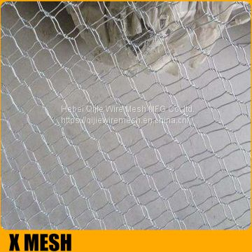 High security 50x100mm opening hexagonal gabion basket for Stone Bench