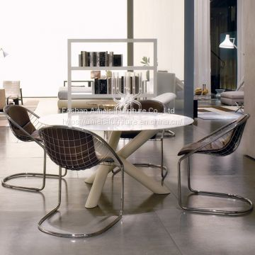 Modern living room furniture metal mesh cafe lounge chairs