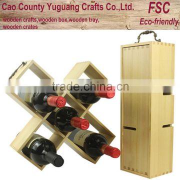 Wine Bottle Display Box Stand Single Rack