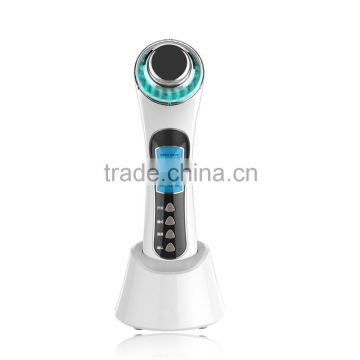 Beperfect BP-0152 home use shock wave therapy equipment for face lift with 3Mhz ultrasonic galvanic Led light and Bio vibration