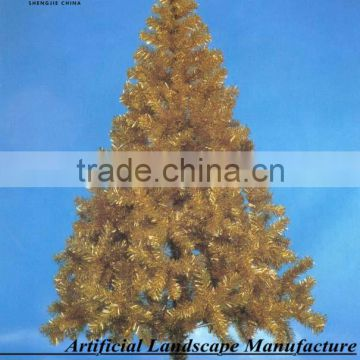 gold christmas tree , beautiful artificial christmas tree