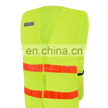 EN ISO 20471 reflective running vest high visibility safety vest high visibility tape 100% polyester
