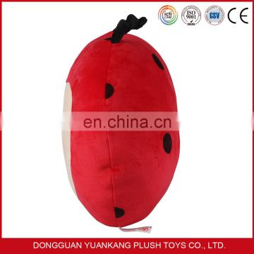 China wholesale cute Coccinella septempunctata plush pillow for baby