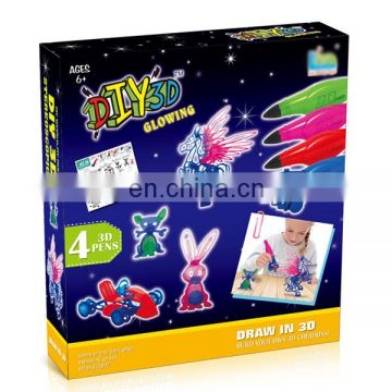Wholesale hot items children 3d pen educational toy printing game