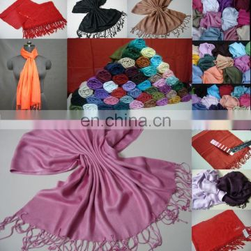 Promotion 100% Viscose Woven Shawls in Customize Colors