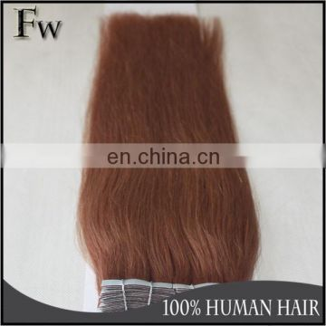 Wholesale double drawn PU strip skin weft tape virgin human hair extension