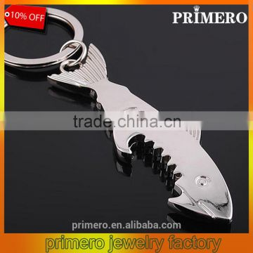 Key Ring Key Chain Alloy Cool Fish Shark Beer Bottle Opener Keychain Unique Gifts