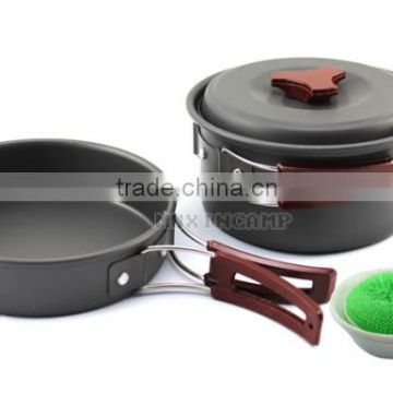 Picnic barbecue supplies outdoor camping cookware utensils , cookware cutlery portable combination
