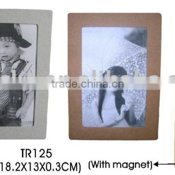 recycled paper photo frame with magnet