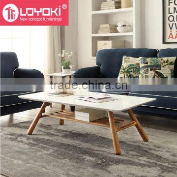 Modern Mdf Wood Coffee Table With Wood Leg High Quality Sofa Table