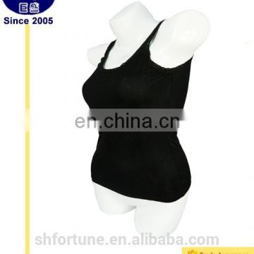 Latest design breast lace sexy plain women fitted blank tank top