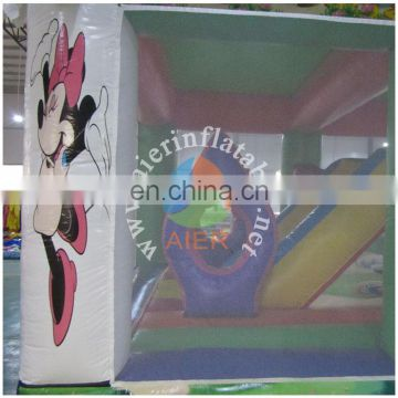 Full artwork Inflatable Mickey Funland for indoor or outdoor jumping