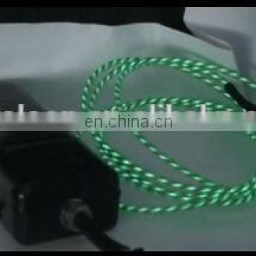 New model EL chasing wire with growing waterflow light for car inside 10 colors for choice