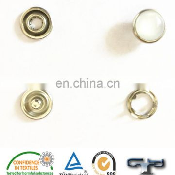 Press spring metal pearl snap button for fur coat