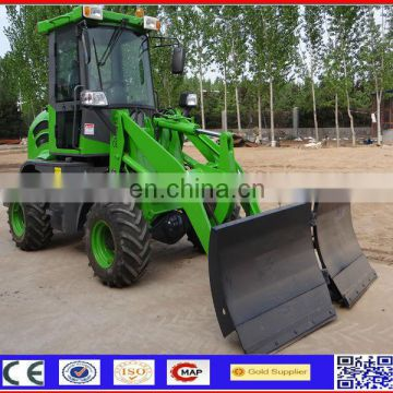 4wd 1.2ton Skidsteer Loader with Snow Blade