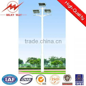 Hot dip galvanize 40m High Mast Light Pole with 1500w metal Halid lamp for flooding light