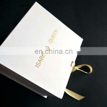Zeal-x packing ribbon closure gold logo cosmetic packaigng boxes