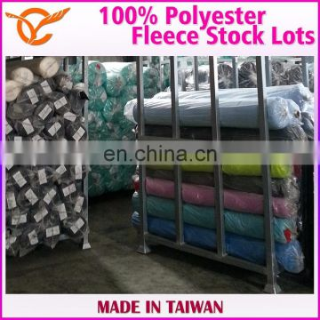 Taiwan 100% Polyester Fleece Indoor Slippers Fabric Stock Lots