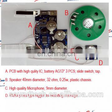 Wafer press trigger sound module for greeting card