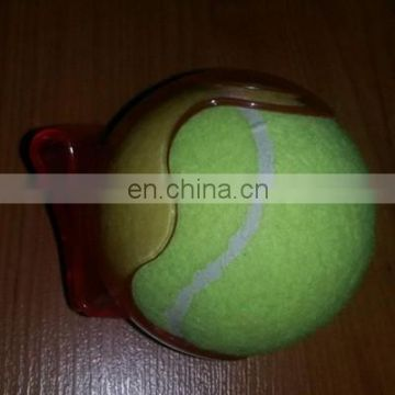 Plastic ball pocket clip for tennis ball