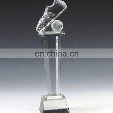 Creative Quality Custom Football Crystal Trophy Design