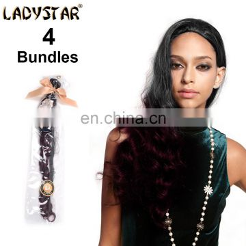 hot sell 1B/99J ombre hair extension fashion loose wave human hair bundles 3pc brazilian hair bundles