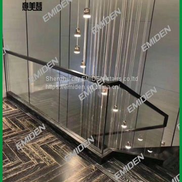 Shenzhen Yimeiden Stairs Supply Deluxe Hotels / Upmarket Residential Glass Staircase Arrests
