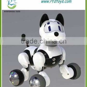 Hot selling Lovely Electric Battery Dog Animal Toys Children Battery Intelligent Toys With Voice Control for Christmas gift