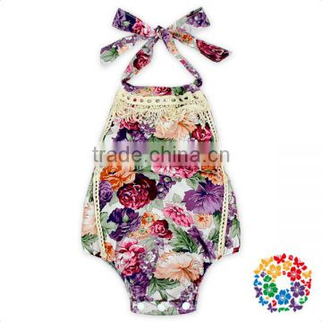 Giggle Moon Remake Kids Summer Playsuit Organic Cotton Flower Baby Romper Suit