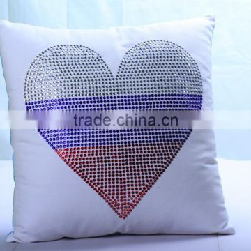 Bling Heart Shape Rhinestone Pillow Case Decorative Home Bedrooming And Seat Cushion Covers Customized