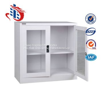 Factory direct double swing glass door steel filing cabinets