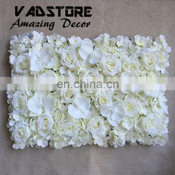 artificial white pink rose and hydrangea &orchid flower wall for wedding backdrop or lawn/pillar road lead decoration
