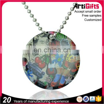Dog Tags Manufacture Decorative Dog Tag With Beaded Chain