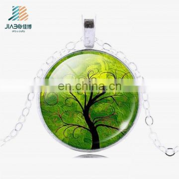 High quality with custom design pendant round silver metal charms