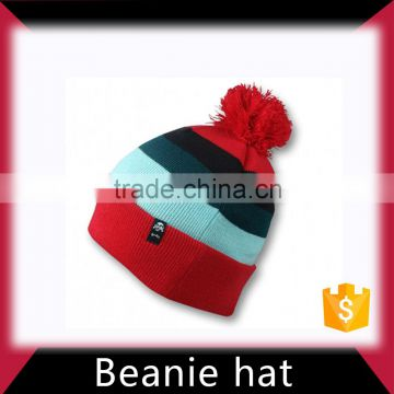 Knitted beanie custom hat in low price