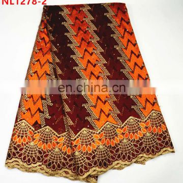 Latest french lace african women net lace fabric tulle lace