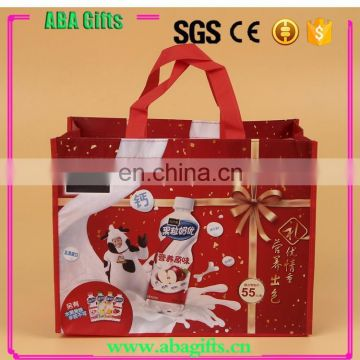 Promotional advertising multifuntional printed custom made foldable shopping bags
