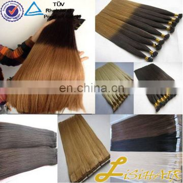24 Inch Double Drawn Flat Tip Highlight Hair Color Human Hair